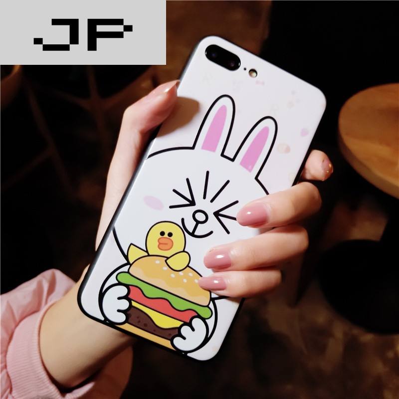jp潮流品牌可爱兔兔苹果6手机壳硅胶防摔iphone7个性创意情侣6splus