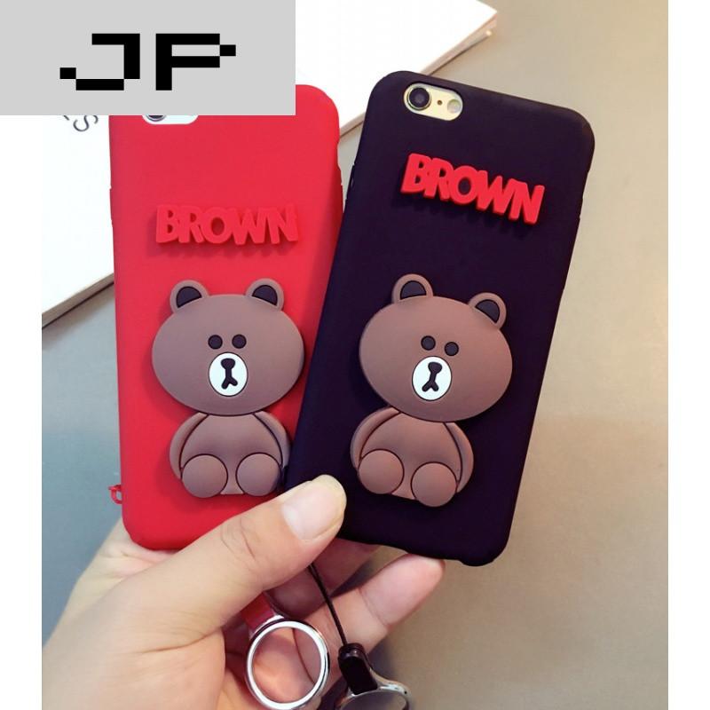 jp潮流品牌超萌可爱熊vivoy67手机壳磨砂硅胶y67手机套防摔韩国创意