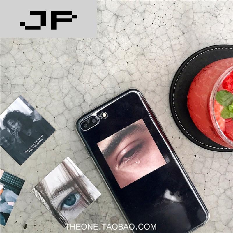 品牌ins个性创意小卡片不同背景搭配透明全包iphone6/7plus苹果手机壳