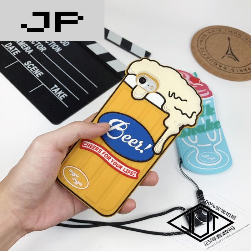 jp潮流品牌创意雪糕卡通可爱硅胶iphone7手机壳6splus