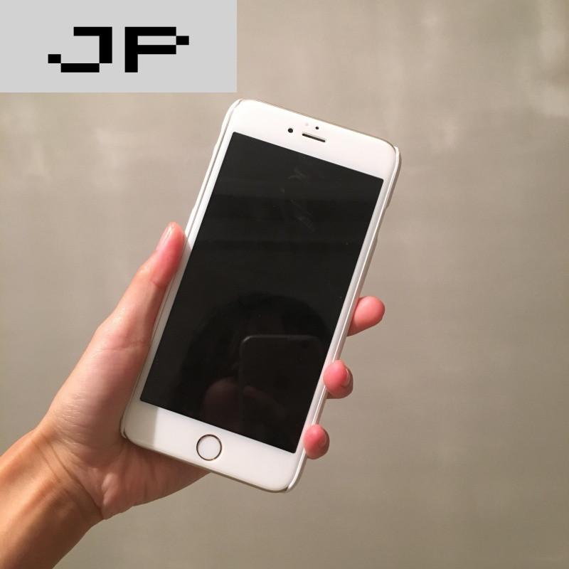 jp潮流品牌苹果6s手机壳iphone7/6plus磨砂白底硬壳字母创意个性半包