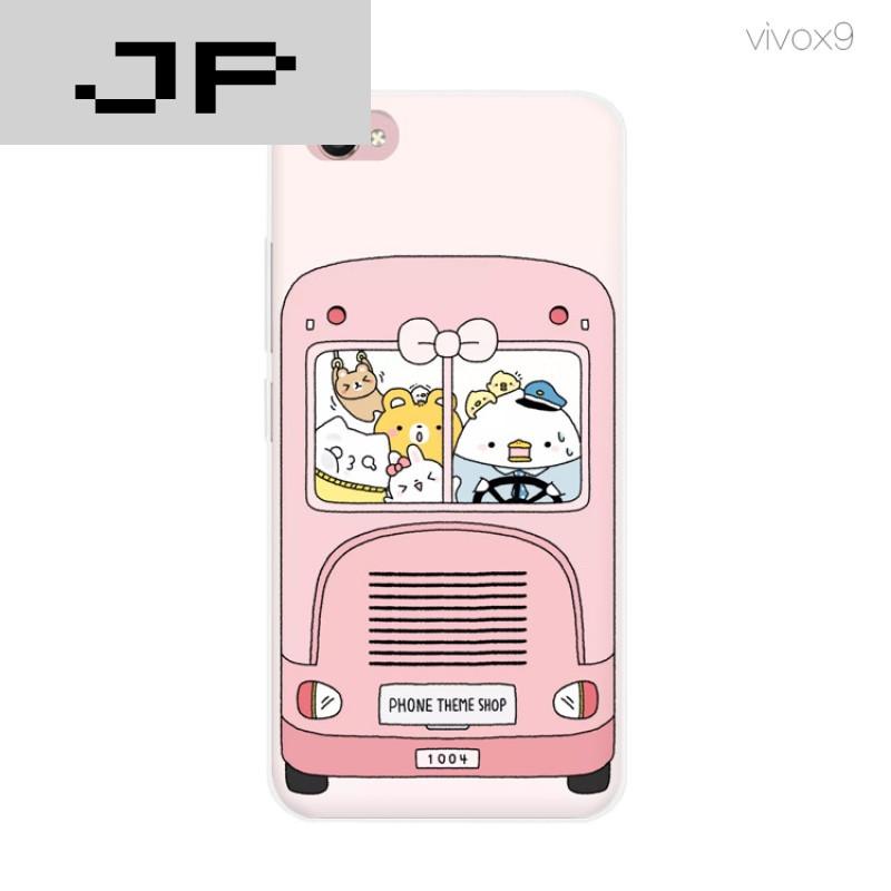 jp潮流品牌新款可爱卡通插画 x9手机壳步步高x7 x9plus硅胶防摔软壳