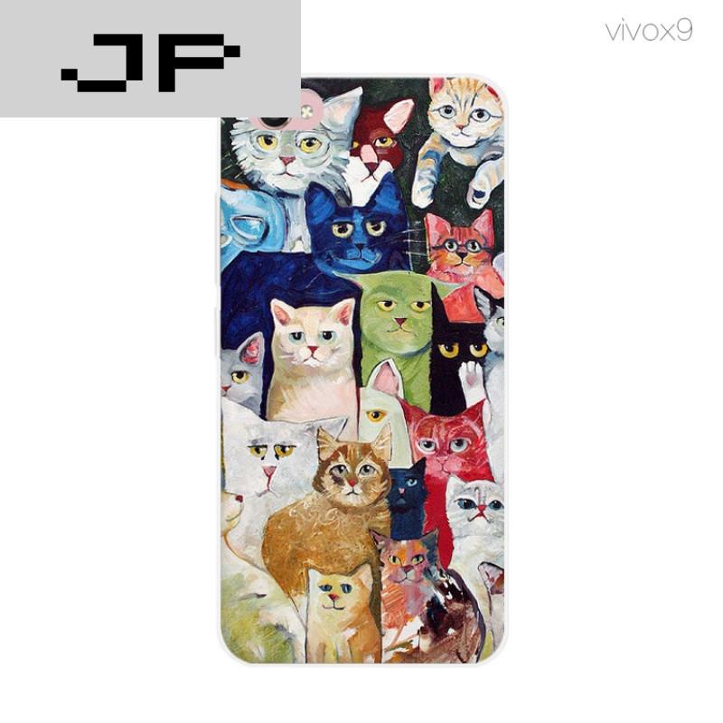 jp潮流品牌个性文艺小清新猫咪 x9手机壳步步高x7 x9plus硅胶防摔软壳