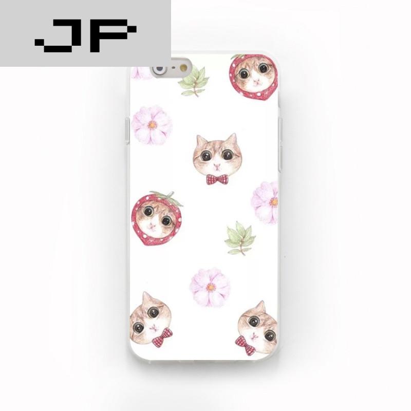 jp潮流品牌新款可爱清新猫咪 苹果6s 5s iphone7 6s plus创意硅胶磨