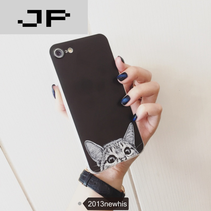 jp潮流品牌原创个性猫iphone6s手机壳情侣iphone6苹果