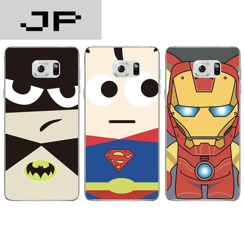 jp潮流品牌三星note3/4手机壳note5超薄软壳卡通可爱超人蝙蝠侠个性防