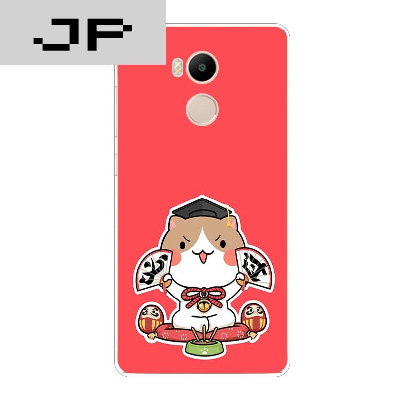 jp潮流品牌小米红米4a手机壳红米4标准/高配版超薄软壳可爱个性招财猫