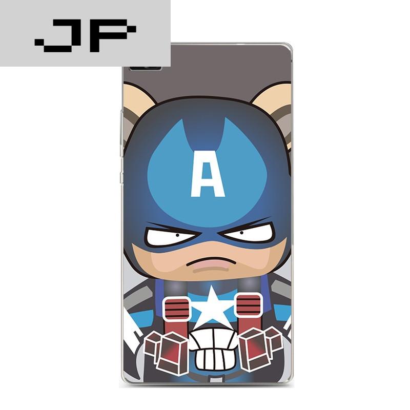 jp潮流品牌华为p8标准青春版手机壳v8超薄软壳卡通可爱超人蝙蝠侠防摔