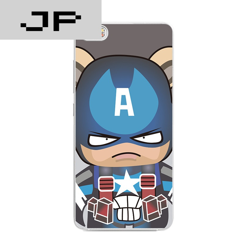 jp潮流品牌mi小米note/5手机壳max超薄软壳红米note4x卡通可爱超人