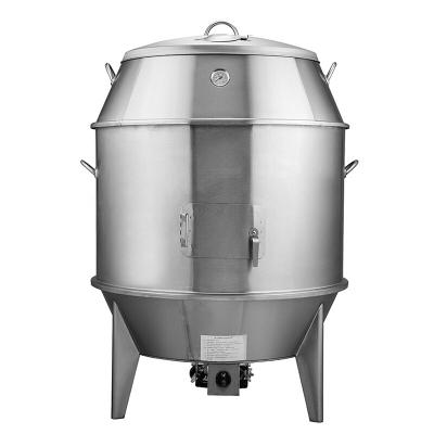 纳丽雅烤鸭店设备90cm型商用燃气双层保温烧鹅炉烧鸭炉烧鸡炉烧鹅烤鸭炉