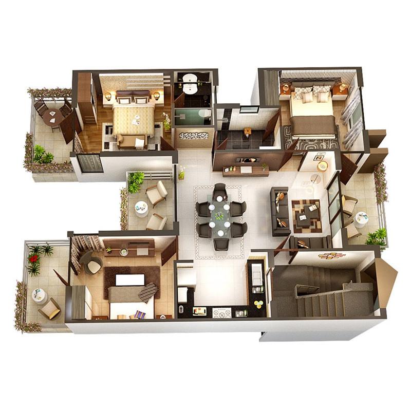 悦装网 装修全案设计效果图小户型湖州房屋全包装修公司施工全包