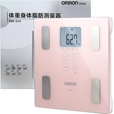 欧姆龙 体脂仪 身体脂肪测量仪 电子体重脂肪秤 HBF-214 身体年龄 BMI值 肌肉率