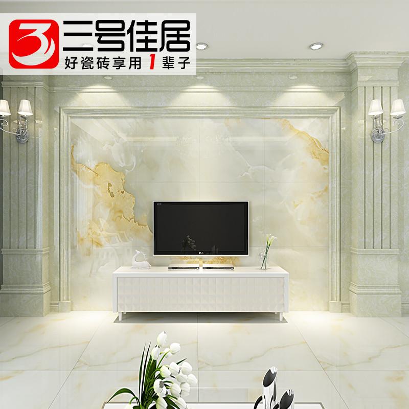 三号佳居大理石欧式罗马柱电视背景墙瓷砖搭配客厅墙砖影视墙建材