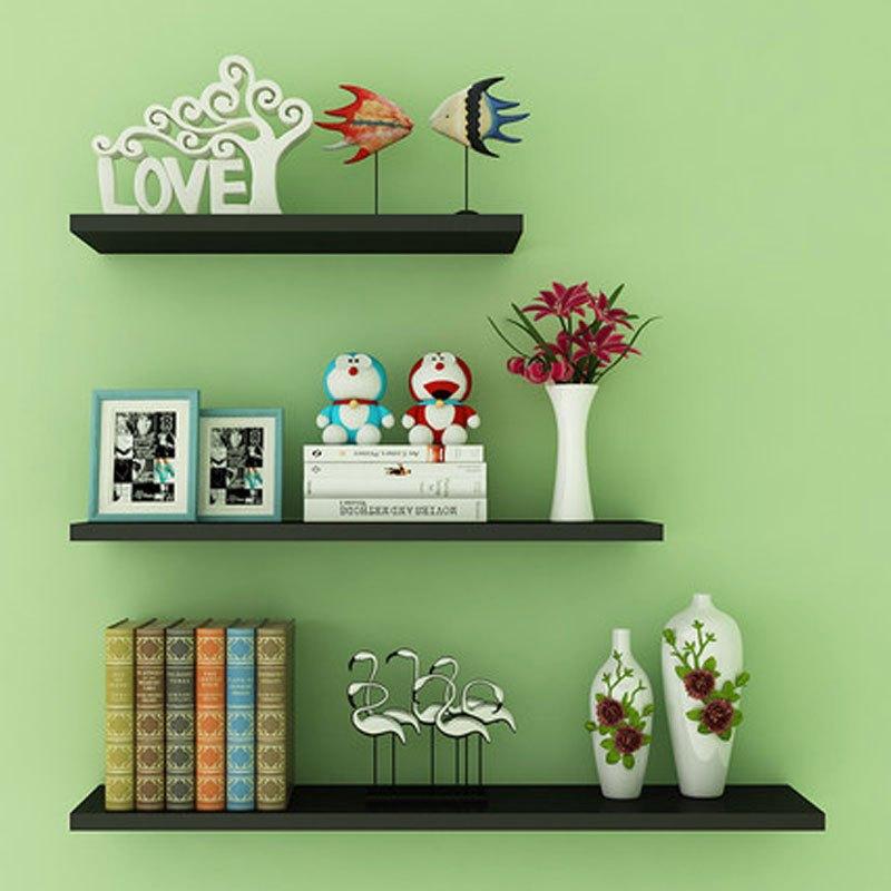 书架墙上置物架一字隔板储物架墙面搁板壁挂客厅装饰层板糖果色现代创