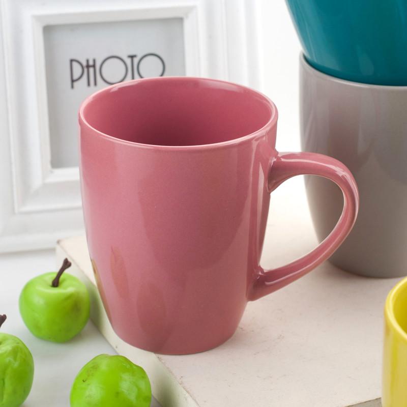 简约可爱马克杯创意咖啡杯子个性陶瓷水杯套装家用刷牙漱口牛奶杯情侣