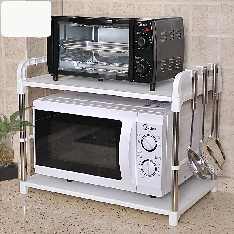 2层微波炉架子收纳架烤箱架厨房置物架落地调料用品储图片