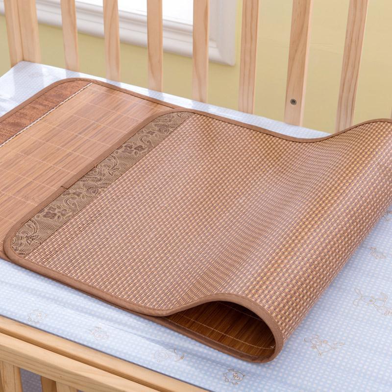 宝宝凉席幼儿园午睡竹席儿童双面竹凉席婴儿床凉席新生儿童席凉席凉枕