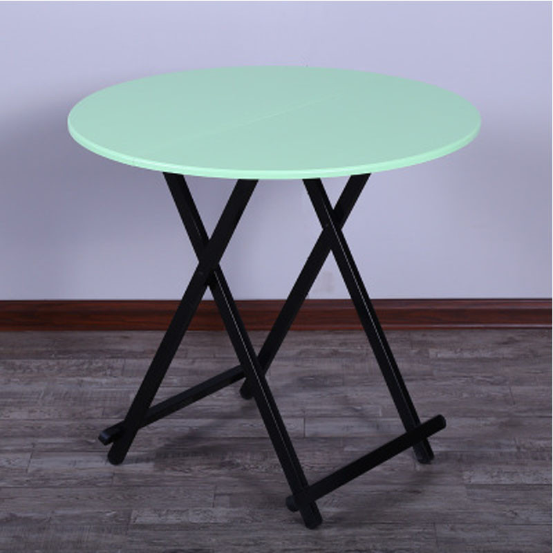 桌子饭桌圆桌收缩小圆形可折叠简易餐桌支架结构简约现代生活日用住宅