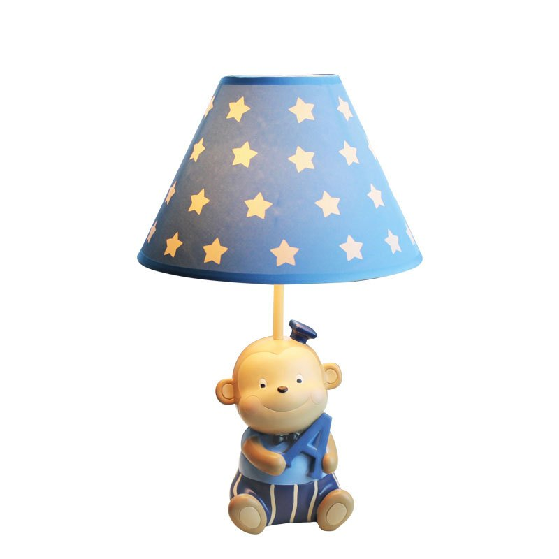 猴子小台灯卧室床头灯创意儿童房男孩卡通可爱喂奶可调光暖光温馨多