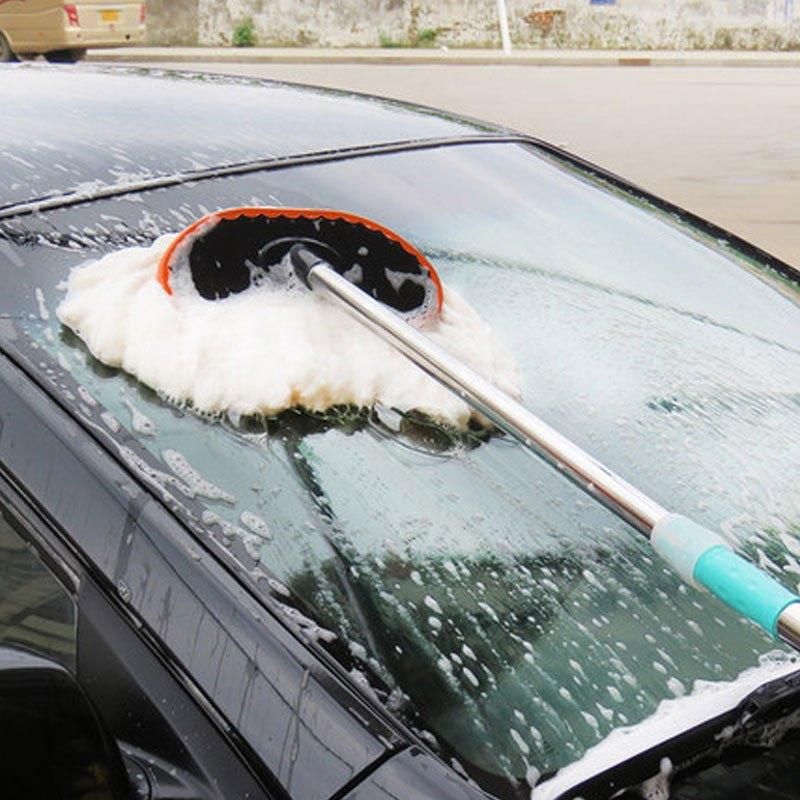 汽车专用刷子洗车拖把伸缩式棉质软毛擦车神器多功能清洁工具套装多色