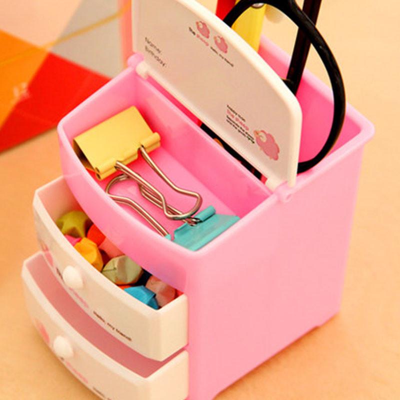 纯色现代小学生笔筒可爱简单笔桶创意时尚办公儿童用文具韩国小清新女