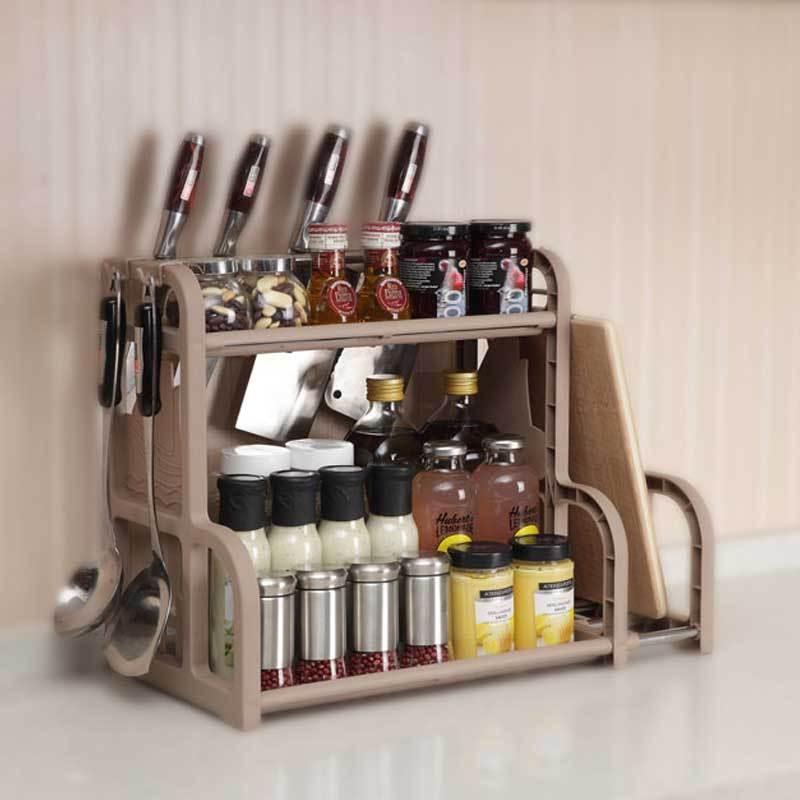 架整理架送挂钩简约时尚家居家用生活日用多功能厨房收纳用品置物架图片
