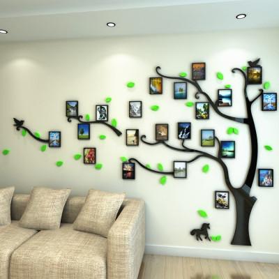 3d立体墙贴画纸自粘亚克力创意相框照片树办公室客厅沙发电视装饰df