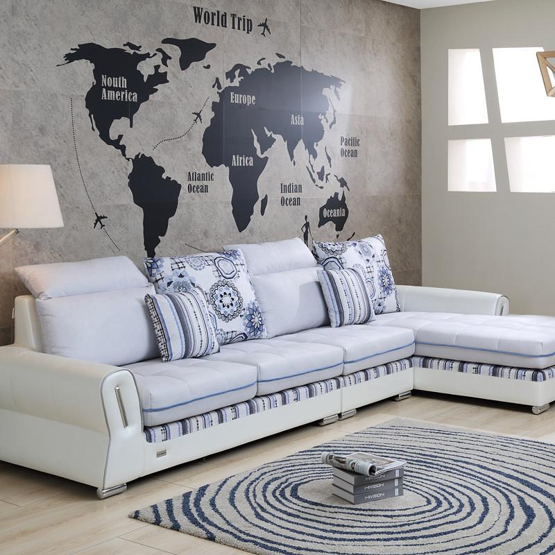 好风景家居 布艺沙发组合 现代简约风格家具 小户型沙发客厅整装沙发