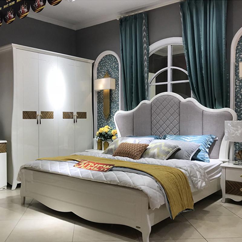 好风景家居 韩式田园卧室双人床1.8米大床30b1007
