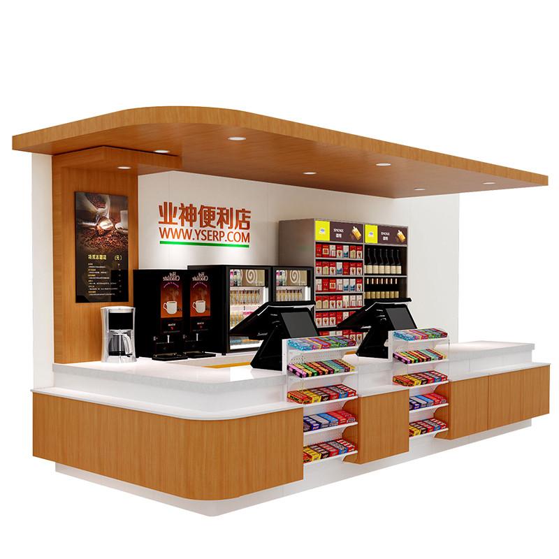业神制造 超市收银台 便利店货架烟柜台 钢制收银台柜图片