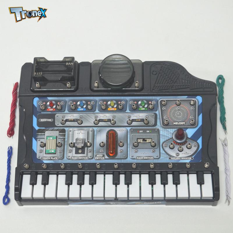 科学实验科技小制作科普diy益智学习手工发明材料电路玩具电子琴38合1
