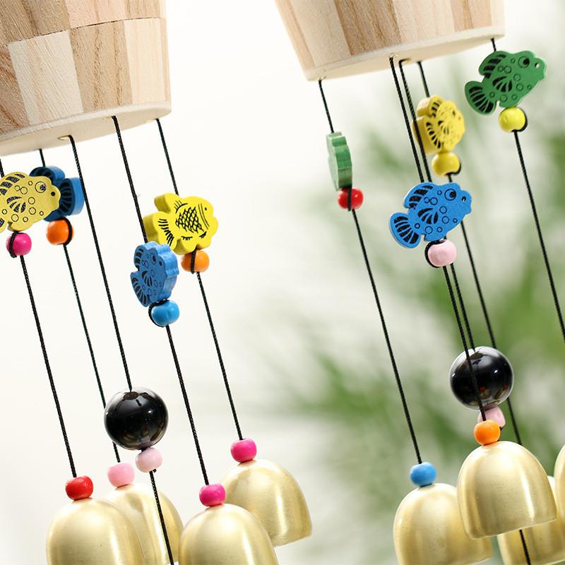 彩色小鱼铃铛风铃创意木桶挂件家居客厅卧室装饰品毕业纪念品-款式