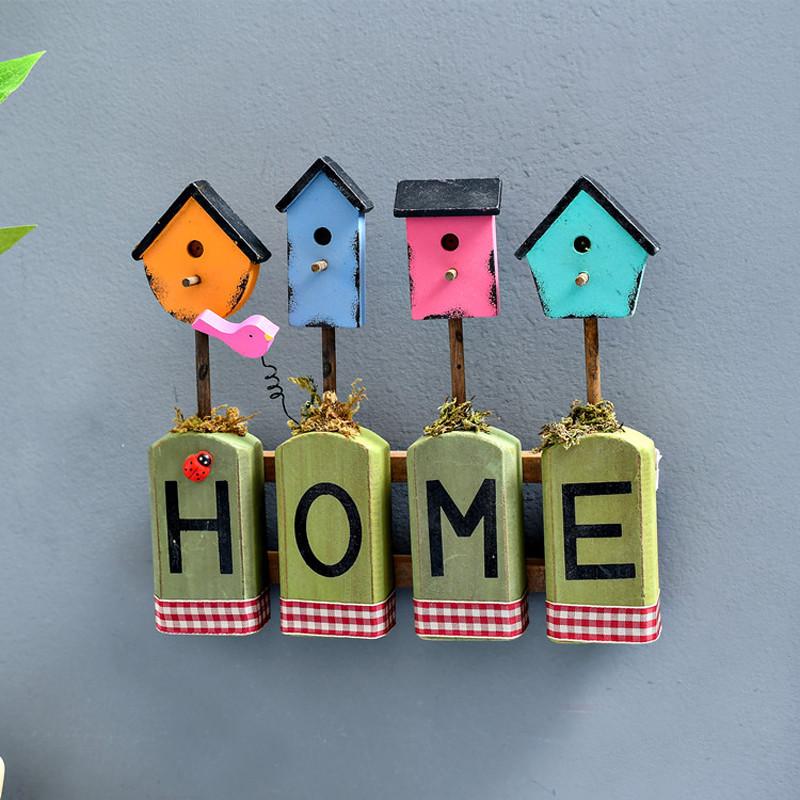 字母墙面装饰直排钩服装店橱窗挂饰壁挂摄影道具-home绿色摆件可挂