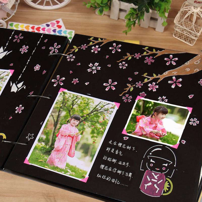 家庭礼物相册影集手工相册创意diy制作儿童成长纪念册图片