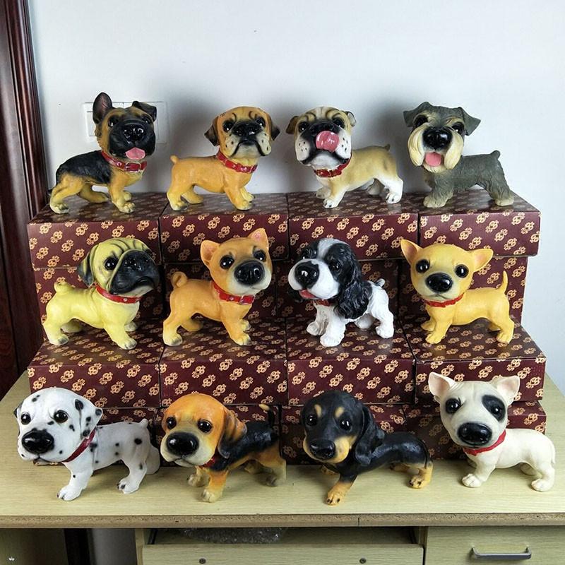小狗狗动物大号摆件创意可爱客厅家居摆设店铺装饰树脂工艺品-比格犬