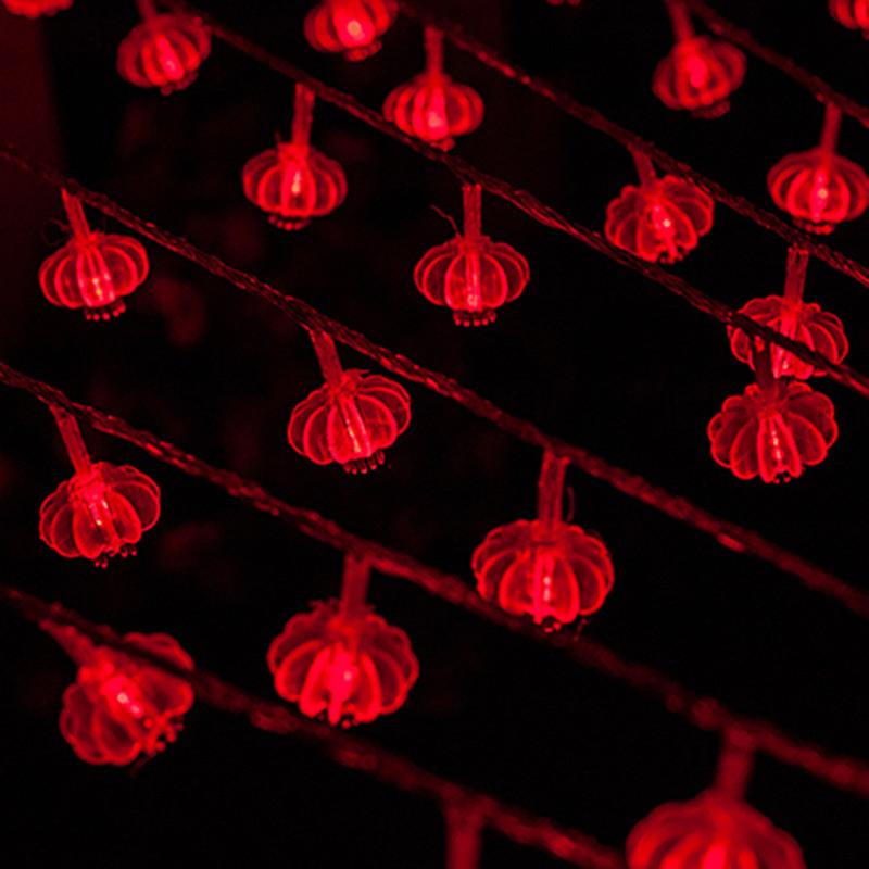 led灯笼型小彩灯户外防水节日树闪灯串灯元宵新年挂饰