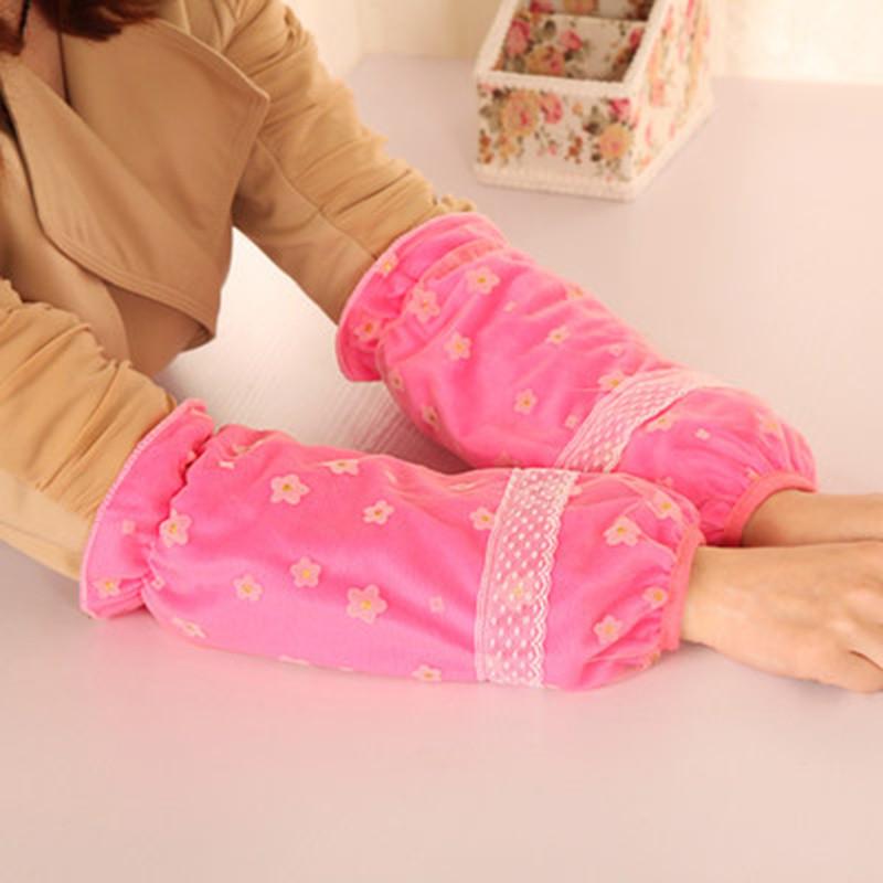 韩版可爱女士办公护袖羽绒服防污袖套小女孩学生套袖长款