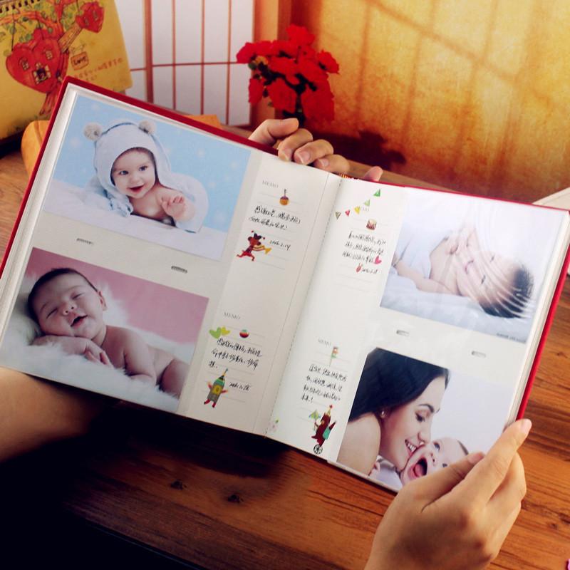 插页式相册本影集相册家庭相簿宝宝纪念册-6寸200张图片
