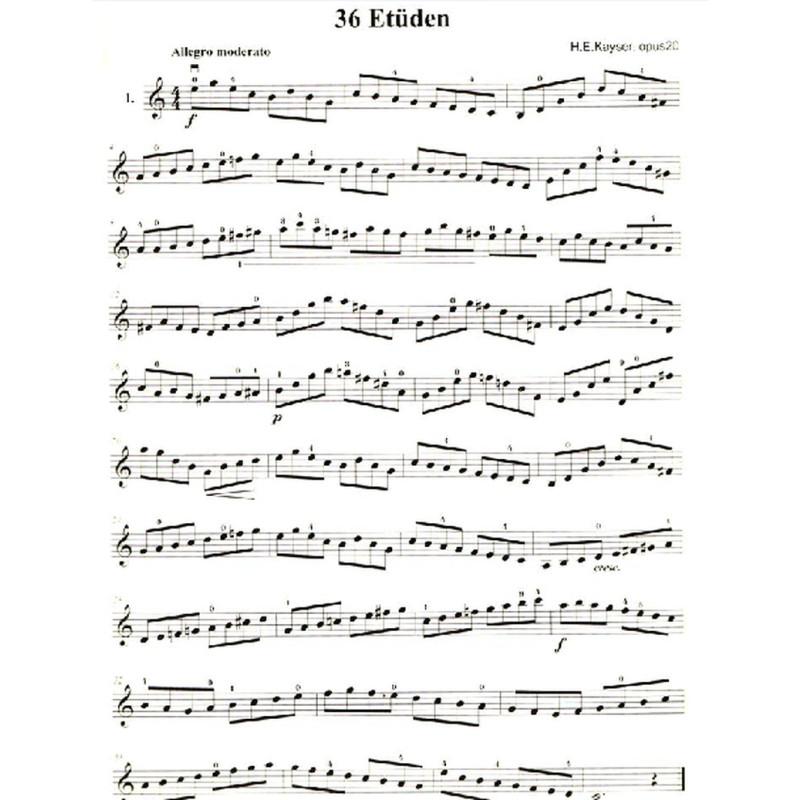 正版 开塞36首小提琴练习曲 大音符版 苏州大学出版社