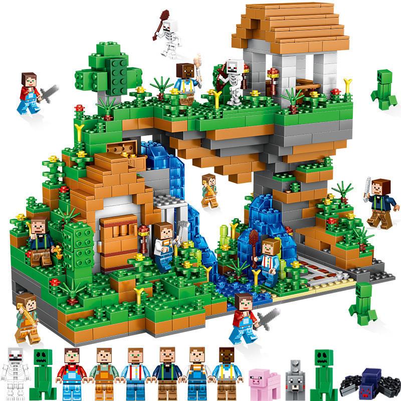 兼容乐高我的世界积木拼装男孩益智积木梦幻庄园拼装积木玩具套装正品