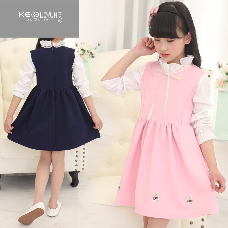 5 6 7 8岁童装女童长袖连衣裙春装小孩衣服春天儿童韩版公主裙子
