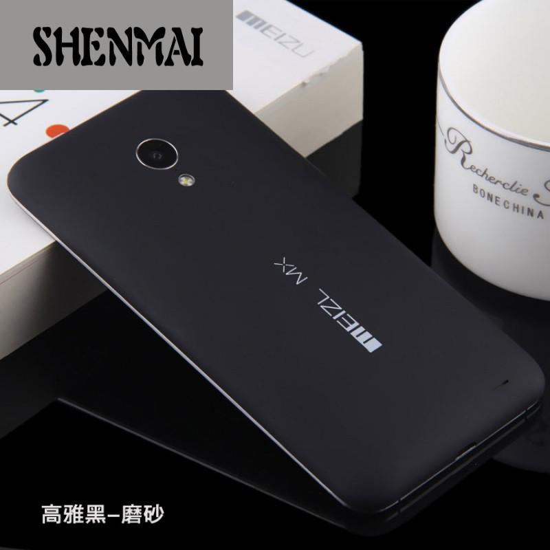 shm品牌 魅族mx3电池替换后盖魅族3手机壳保护套磨砂薄硬外壳潮