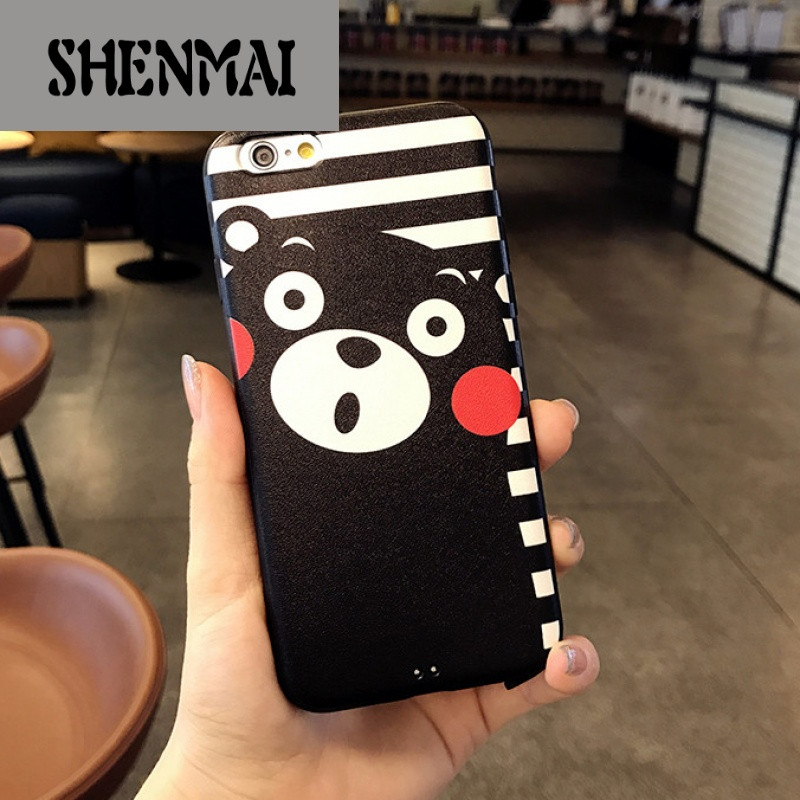 shm品牌可爱熊本苹果6手机壳卡通iphone6plus硅胶软壳