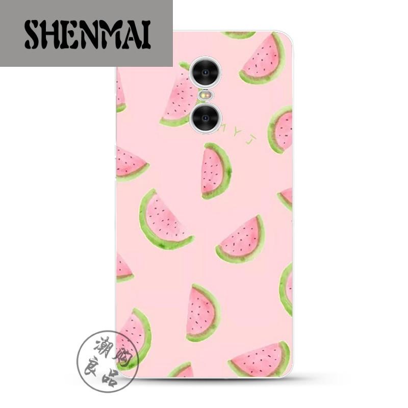 shm品牌小米红米note4x/3/2/4a/pro手机壳硅胶粉色小清新手绘水果西瓜