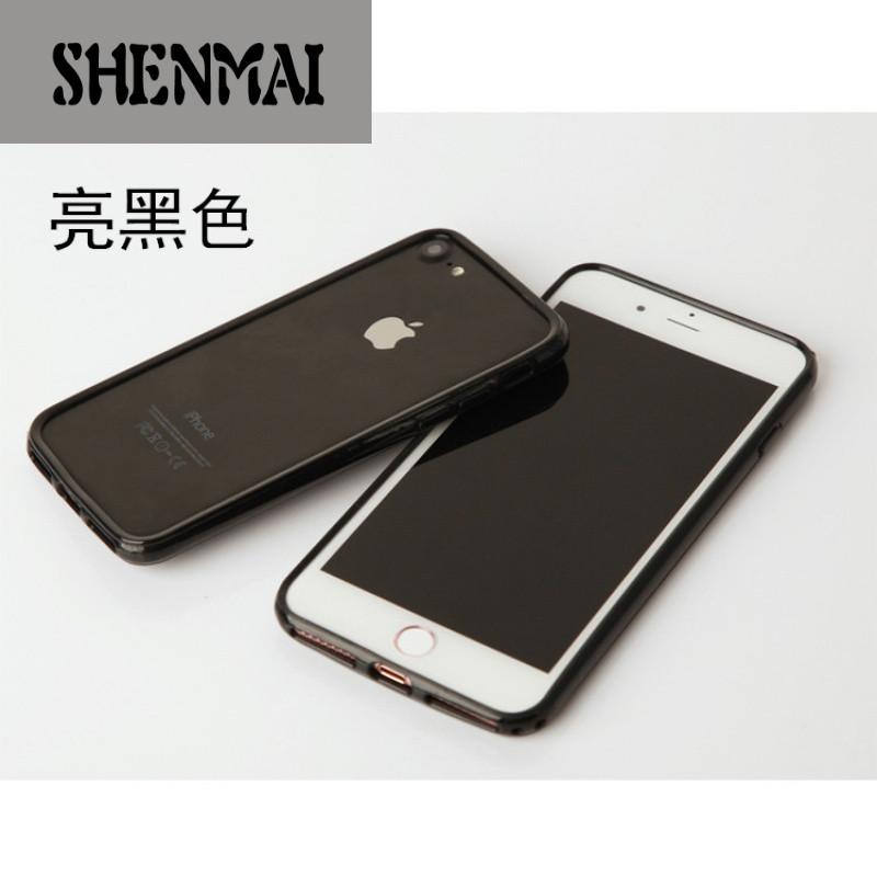 shm品牌新款挂绳苹果8x手机壳边框iphone7plus套6s透明软硅胶8p简约女