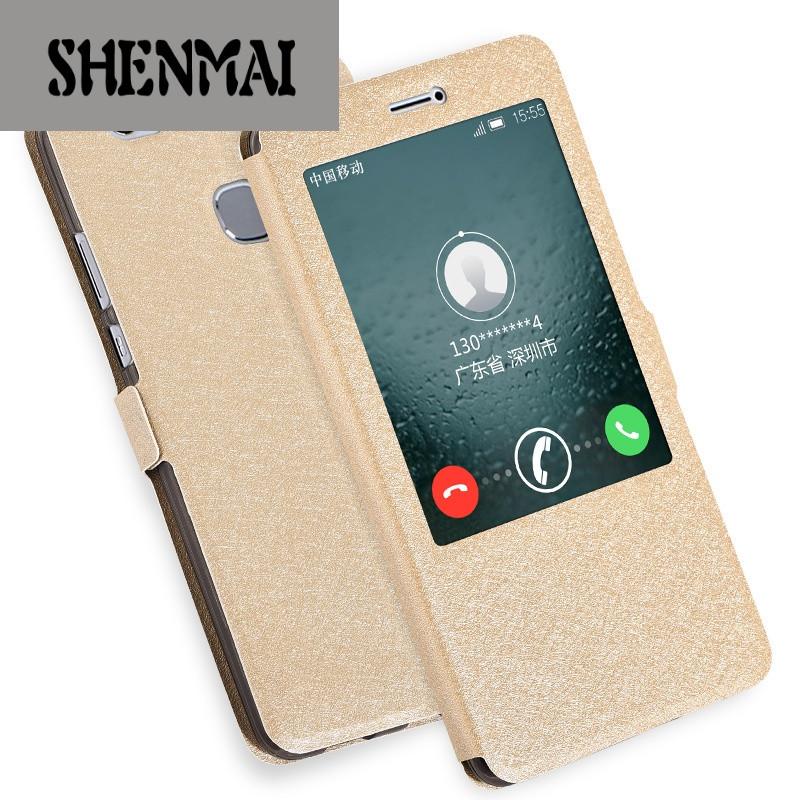 手机套品牌_shm品牌华为荣耀note8手机套edi-al10手机壳翻盖智能保护套硅胶软壳