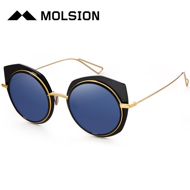 陌森太阳镜娜扎同款墨镜太阳眼镜男女款几何镜框彩色时尚墨镜ms6021图片