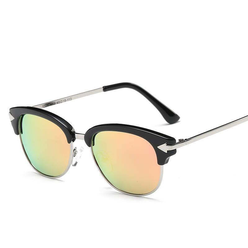2017年新款偏光太阳眼镜潮酷儿童墨镜复古可爱镜青少年潮流1007炫彩