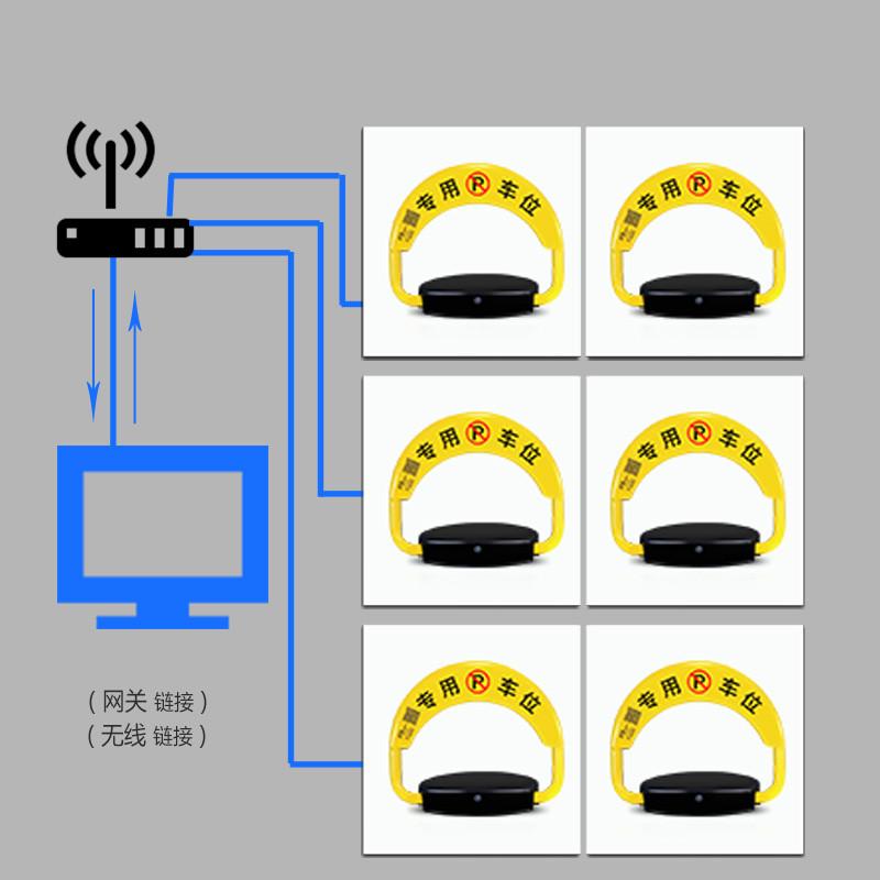 普达智能遥控车位锁与汽车充电桩app手机结合蓝牙wifi