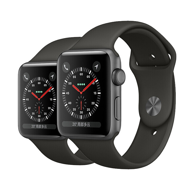 苹果手表s3_苹果apple watch series 3 s3 第三代智能穿戴金属防水手表 深空灰(深